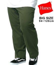 MARUKAWA/【Hanes】ヘインズ 大きいサイズ ツータックチノパンツ/502976471