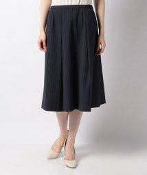 Leilian/コットンミックス素材スカ-ト/503014019