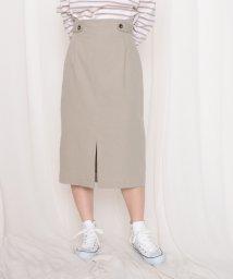 Cheek/タブ付ロングタイトスカート/503024751