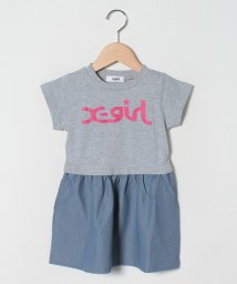 X-girl Stages/ミルズロゴTシャツ切り替えワンピース/503031671