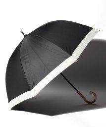 pink trick/完全遮光 晴雨兼用 長傘 グログラン 遮光率100% 遮蔽率100% 1級遮光 遮熱 軽量 UVカットブラック×グログラン /503038535