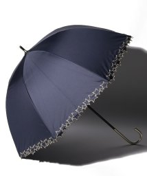 pink trick/完全遮光 晴雨兼用 長傘 トゥインクルスター 遮光率100% 遮蔽率100% 1級遮光 遮熱 軽量 UVカットネイビー×トゥインクルスター /503038537