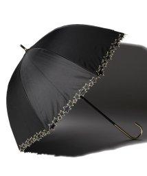 pink trick/完全遮光 晴雨兼用 長傘 トゥインクルスター 遮光率100% 遮蔽率100% 1級遮光 遮熱 軽量 UVカットブラック×トゥインクルスター /503038538
