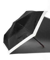 pink trick/完全遮光 晴雨兼用 3段折りたたみ傘 グログラン 遮光率100% 遮蔽率100% 1級遮光 遮熱 軽量 UVカットブラック×グログラン /503038540