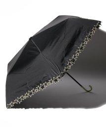 pink trick/完全遮光 晴雨兼用 3段折りたたみ傘 トゥインクルスター 遮光率100% 遮蔽率100% 1級遮光 遮熱 軽量 UVカットブラック×トゥインクルスター /503038542