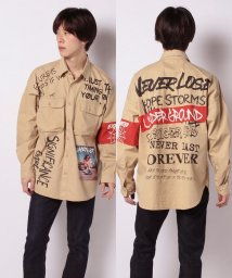STYLEBLOCK/フォト付きデコレーションロゴプリントビッグシャツビッグシルエットオーバーサイズ韓国韓流ストリート/503039161