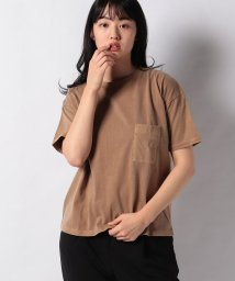 STYLEBLOCK/天竺ピグメント加工ビッグシルエットポケット半袖Tシャツカットソー/503039165