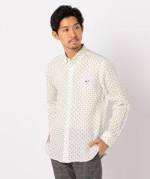 NOLLEY'S goodman/クジラ刺繍リネンボタンダウンシャツ/503046281