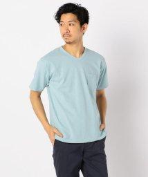 GLOSTER/【LOOP WHEEL】吊り編み天竺 VネックTシャツ/503046343