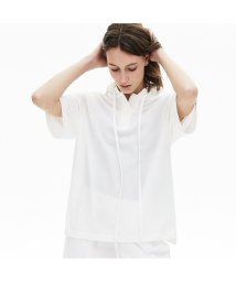 LACOSTE/ソリッドコットンピケフードポロシャツ (半袖)/503057988
