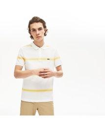 LACOSTE Mens/レギュラーフィット Made In Franceオーガニックコットンピケボーダーデザインポロシャツ(半袖)/503058016