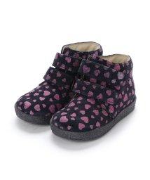 EU Comfort Shoes/ヨーロッパコンフォートシューズ EU Comfort Shoes Narurino  ベビーハイカットスニーカー (ブラック/ピンク)/503059447