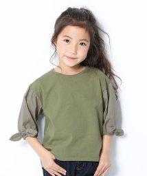 devirock/袖口リボン7分袖Tシャツ/503061675