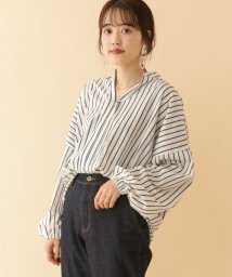 URBAN RESEARCH OUTLET/【ITEMS】ストライプスキッパーギャザーブラウス/503006098