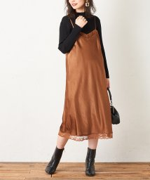 NICE CLAUP OUTLET/ 【natural couture】サテンヴィンテージドレス/503035567