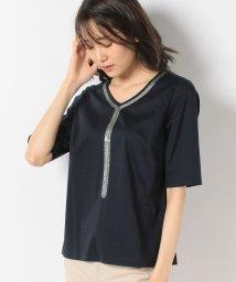 LAPINE BLANCHE/コットンハイゲージスムース×刺繍カットソー/503048190