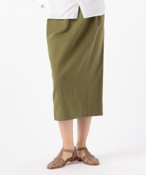 GALERIE VIE/ブロークンサテン Iラインスカート/503064001