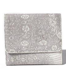 gino marina luxe/リザード本革三つ折り財布/503028820