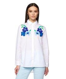 BENETTON (women)/花柄チェーンステッチオーバーサイズシャツ・ブラウス/503045746