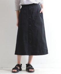 MELROSE Claire/ラフコットンストレッチAラインスカート/503050303