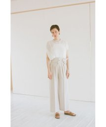 CLANE/WIDE BELT PANTS/503062903