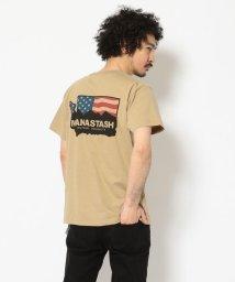 BEAVER/MANASTASH/マナスタッシュ FLAG PRINT TEE フラッグプリントティー/503064072