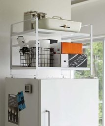 212KITCHEN STORE/tower (タワー) 冷蔵庫上収納ラック WH/503065705
