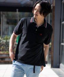 Nylaus/SKKONE ビッグシルエット 鹿の子 ライン使い 刺繍入り 半袖ポロシャツ/503066234