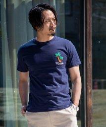 Nylaus/SKKONE サガラ刺繍 フラミンゴ ロゴ パームツリー ヤシの木 刺繍 半袖 Tシャツ カットソー/503066236