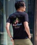 Nylaus/SKKONE サガラ刺繍 ロゴ 刺繍 ハイビスカス ボタニカル 花柄 バックプリント 半袖 Tシャツ カットソー/503066238