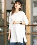 GeeRa/裾スリットロングTシャツ          /502417590