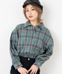 WEGO/WEGO/チェックアノラックシャツ/502883041