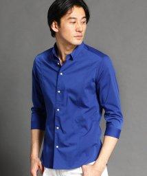 NICOLE CLUB FOR MEN/ショートレギュラーカラー七分袖シャツ/503019109