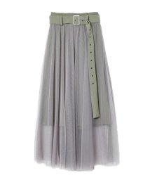 REDYAZEL/ベルト付チュールデザインスカート/503022626