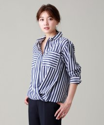 EVEX by KRIZIA/【ウォッシャブル】ディグ二ファイドストライプシャツ/503062873