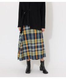 AZUL by moussy/BIG CHECK WRAP SKIRT/503066995