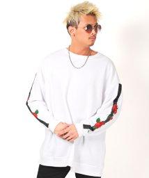 LUXSTYLE/薔薇刺繍トレーナー/トレーナー メンズ ビッグシルエット 薔薇 刺繍 スウェット/503067289
