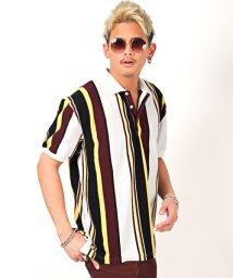 LUXSTYLE/ストライプ柄BIGポロシャツ/ポロシャツ メンズ 半袖 ストライプ ビッグシルエット/503067292