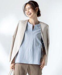 NIJYUSANKU(SMALL SIZE)/【マガジン掲載】リネンヴィスコース ストレッチ ジャケット(番号H47)/503067988