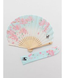 KAYA/【カヤ】桜とねこ扇子 袋付き 7XCP0110/503068056