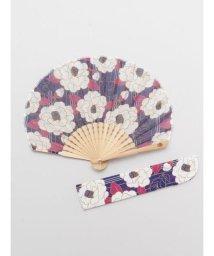 KAYA/【カヤ】縞椿扇子 袋付き 7XCP0114/503068060