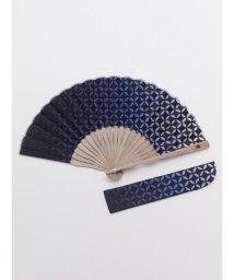 KAYA/【カヤ】紳士用 七宝扇子 袋付き 7XCP0125/503068071