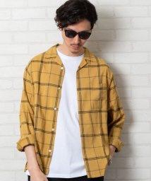 coen/コットンレーヨンチェックオープンカラーシャツ/503068271