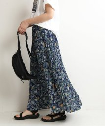SLOBE IENA/マルチカラーフラワープリントプリーツスカート◆/503068448