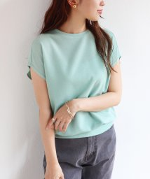 and Me.../フレンチスリーブ半袖クルーネックニットソーTシャツ/500452416