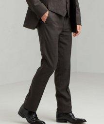 green label relaxing/[ ストローナ ] STRONA グレンチェック スリム ノープリーツ スーツ パンツ/503019790