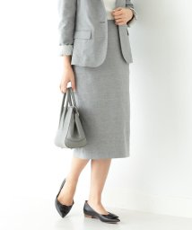 Demi-Luxe BEAMS/Demi-Luxe BEAMS / ストレッチシャークスキン スカート/503025143