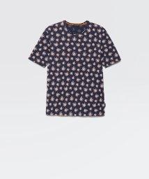 SISLEY/総柄プリント半袖Tシャツ・カットソー/503045701