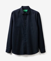 BENETTON (mens)/ドビー織り柄フライフロント比翼長袖シャツ/503045723
