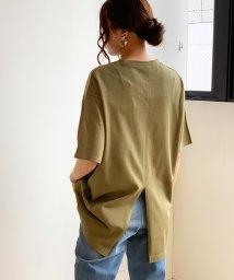 futier land/バックスリットBIG-Tシャツ/503065605